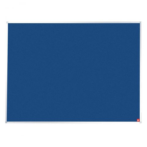 5 Star Office Felt Noticeboard with Fixings and Aluminium Trim W1800xH1200mm Blue