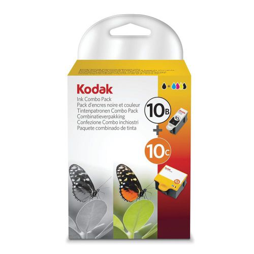 Kodak 10B/10C Inkjet Cartridge Black Page Life 425pp 14ml/Tri-Colour 420pp 12ml Ref 3949948 [Pack 2]