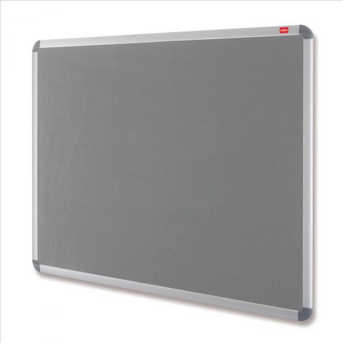 Nobo Prestige Felt Noticeboard with Fixings and Aluminium Frame W1500xH1000mm Grey Ref 30234146