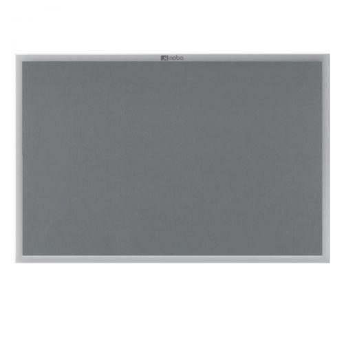 Nobo Prestige Felt Noticeboard with Fixings and Aluminium Frame W1500xH1000mm Grey Ref 30234146