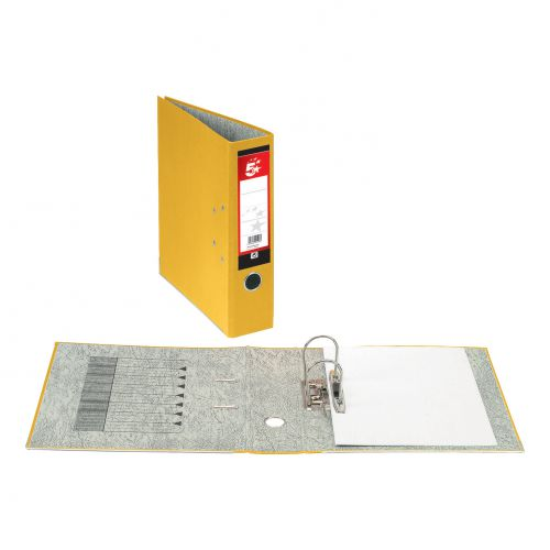 5 Star Office Lever Arch File 70mm A4 Yellow [Pack 10]