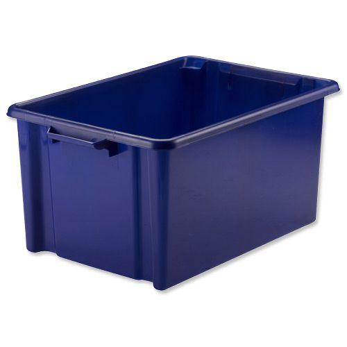 Strata Storemaster Jumbo Crate External W560xD385xH280mm 48.5 Litres Blue Ref HW48