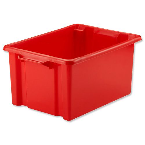 Strata Storemaster Maxi Crate External W470xD340xH240mm 32 Litres Red Ref HW46