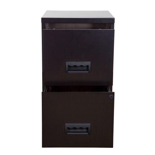 Filing Cabinet Steel 2 Drawer A4 400x400x660mm Ref 95010