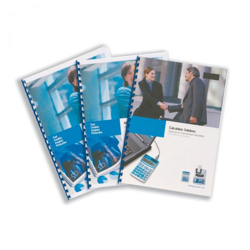 GBC HiClear Binding Covers PVC 240 micron Economy Clear A4 Clear Ref CE012080E [Pack 100]