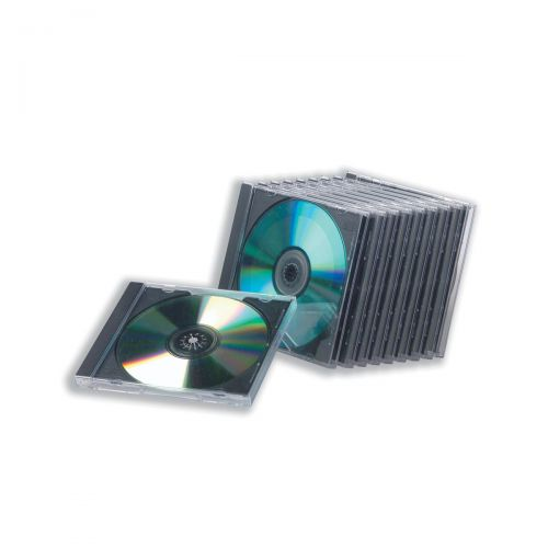 CD Jewel Case with High Impact Protection Plastic Clear [Pack 10]