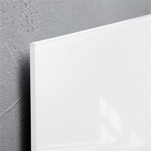 Sigel Artverum High Quality Tempered Glass Magnetic Board With Fixings 480x480mm White Ref GL111