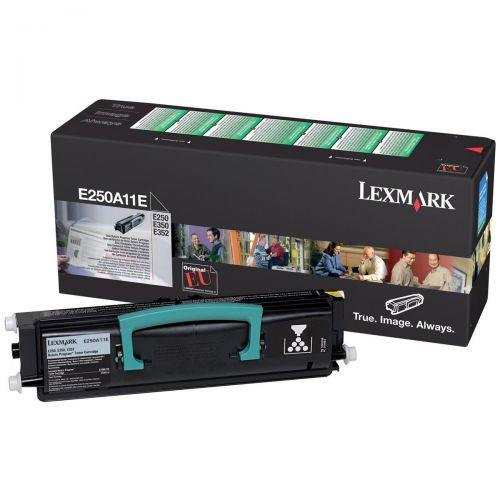 Lexmark E250/E35x Laser Toner Cartridge Return Programme Page Life 3500pp Black Ref E250A11E
