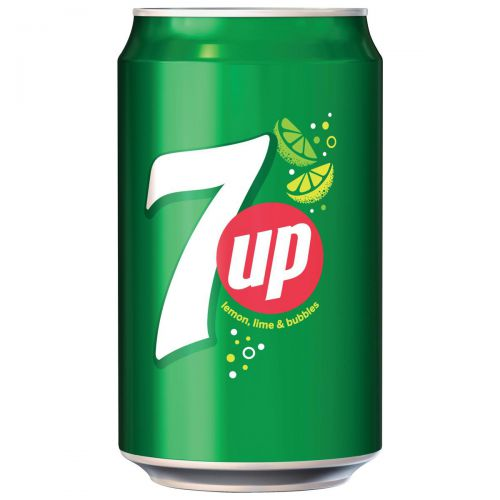 7UP Original Lemon and Lime Soft Drink Can 330ml Ref 203388 [Pack 24]