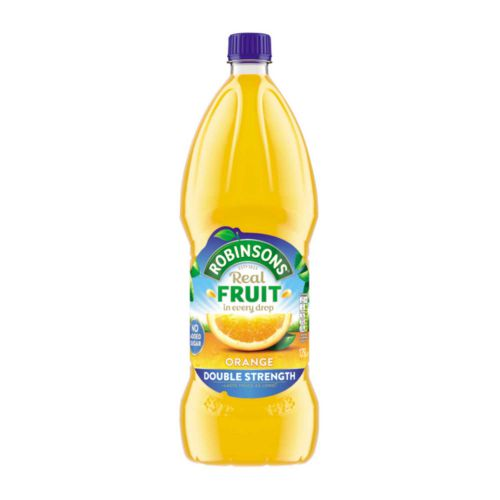 Robinsons Squash Double Concentrate No Added Sugar 1.75 Litres Orange Ref 200659 [Pack 2]