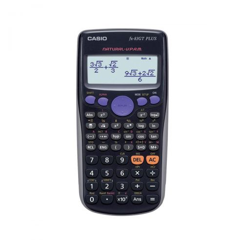 Casio Scientific Calculator Continuous Display 260 Functions 80x13.8x162mm Black Ref FX83GT