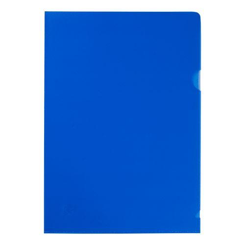 5 Star Office Folder Cut Flush Polypropylene Copy-safe Translucent 120 Micron A4 Blue [Pack 25]