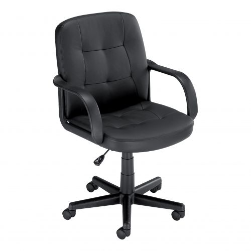 Trexus Boss2 Leather Look Manager Chair No Tilt 470x480x430-550mm Ref 10312-02