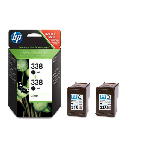Hewlett Packard [HP] No.338 Inkjet Cartridge Page Life 480pp 11ml Black Ref CB331EE [Pack 2]