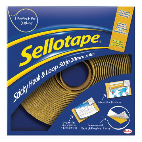 Sellotape Sticky Hook and Loop 20mmx6m Ref 1445180