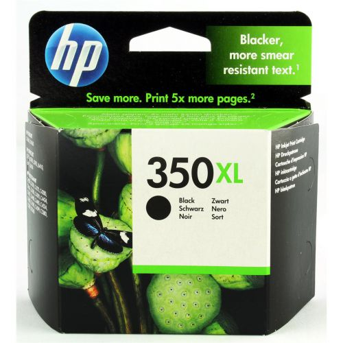 Hewlett Packard [HP] No.350XL Inkjet Cartridge High Yield Page Life 1000pp 25ml Black Ref CB336EE