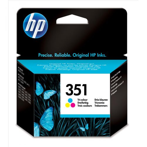 Hewlett Packard [HP] No.351 Inkjet Cartridge Page Life 170pp 3.5ml Tri-Colour Ref CB337EE