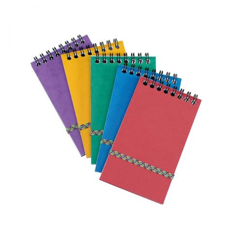 Notepad Head Wirebound 80gsm Ruled and Perforated 120pp 76x127mm Assorted C [Pack 20]