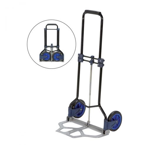 Image for 5 Star Facilities Hand Trolley Folding Capacity 70kg Foot Size W480xL470mm Black