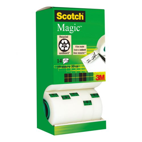 Scotch Magic Tape Value Pack 19mmx33m Ref 81933R14 [12 rolls & 2 FREE]