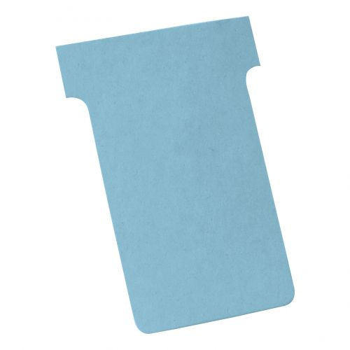 Nobo T-Cards 160gsm Tab Top 15mm W61x Bottom W48.5x Full H86mm Size 2 Light Blue Ref 2002006 [Pack 100]