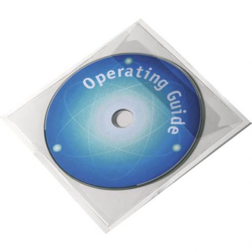 Durable POCKETFIX CD/DVD Self Adhesive Pocket with Flap Ref 8280 [Pack 100]