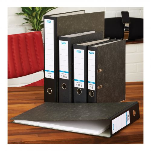 Elba Rado Lever Arch File Foolscap Cloud Paper Slotted Cover 80mm Spine Ref B1092909 [Pack 10]