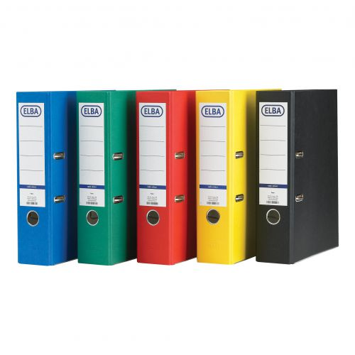 Elba Lever Arch File A4 Coloured Paper Over Board 80mm Spine Red Ref B1045713 [Pack 10]