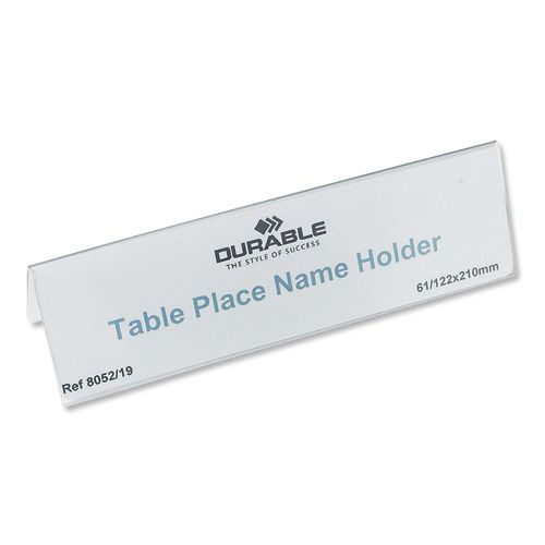 Durable Inserts for Duraprint Table Place Name Holder 61/122x210mm Ref 1460 [Pack 20]