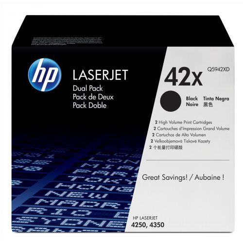 HP 42X Laser Toner Cartridge HY Page Life 20000pp Black Ref Q5942XD [Pack 2]