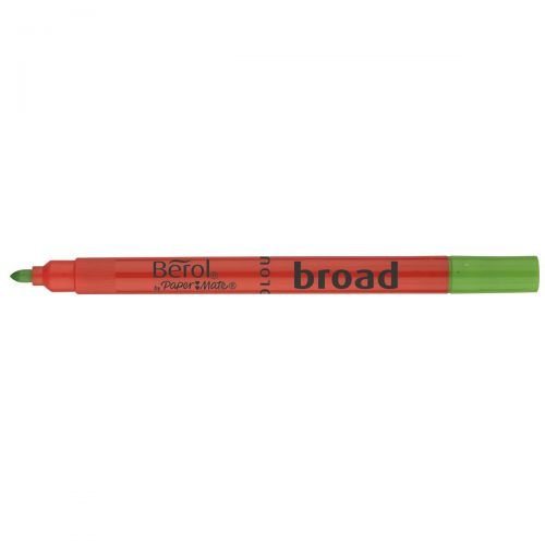 Berol Colour Broad Pen with Washable Ink 1.7mm Line Assorted Ref 2057596 [Wallet 12]