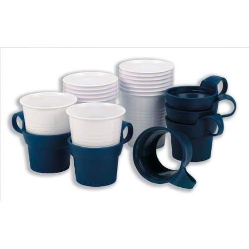 Acorn Cup Holders Insulating for Plastic Cups Navy Blue Ref 501777 [Pack 10]