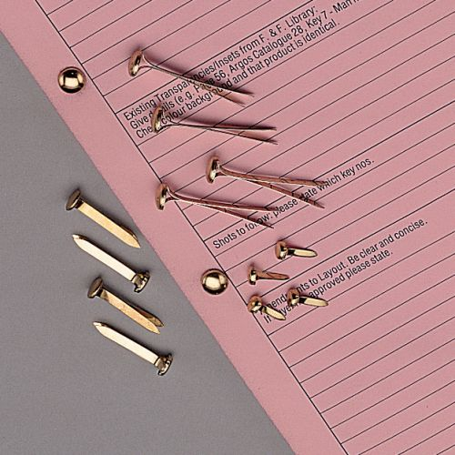 Paper Fasteners Brassed Steel 13mm [Pack 200]