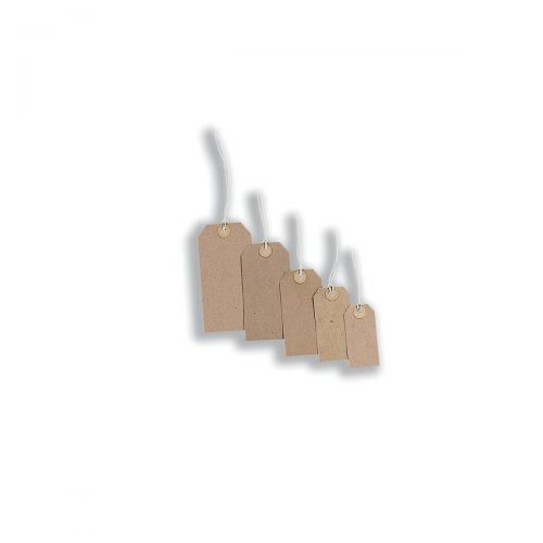 Tag Labels Strung 70x35mm Buff [Pack 1000]