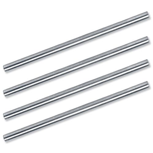 5 Star Office Risers for Letter Tray Chrome Plated 53mm [Pack 4]