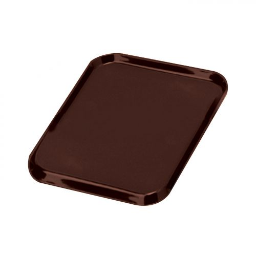 Tray Non Slip Polypropylene Dishwasher Safe W390xD290mm Brown