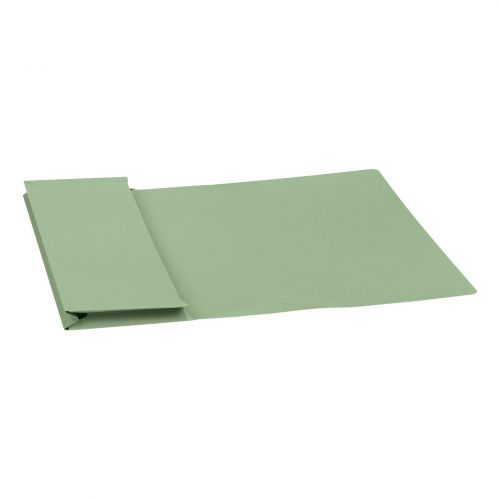 5 Star Elite Document Wallet Full Flap 315gsm Capacity 35mm Foolscap Green [Pack 50]