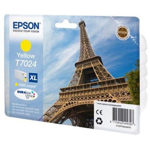 Epson T7024 Inkjet Cartridge Eiffel Tower XL Page Life 2000pp 21.3ml Yellow Ref C13T70244010