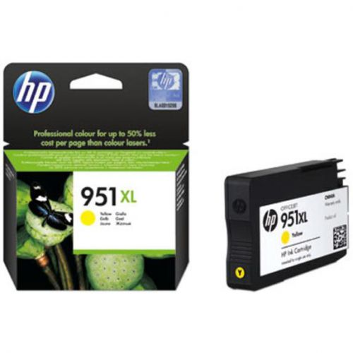 Hewlett Packard [HP] No.951XL Inkjet Cartridge High Yield Page Life 1500pp 17ml Yellow Ref CN048AE