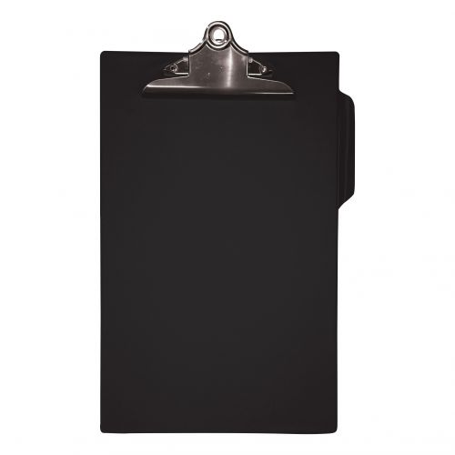 5 Star Office Clipboard PVC Finish Heavy Duty Foolscap Black