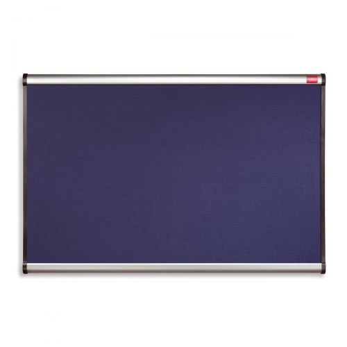 Nobo Prestige Noticeboard Diamond Mesh with Aluminium Finish W900xH600mm Blue Ref QBR443A