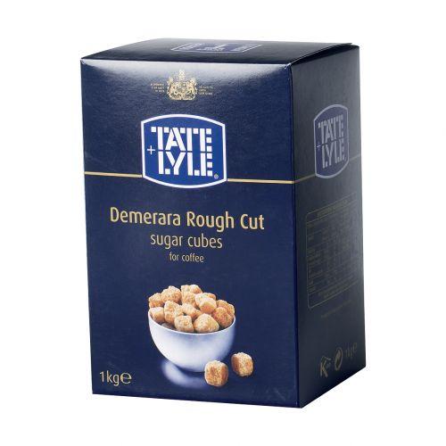 Tate and Lyle Demerara Sugar Cubes Rough-cut 1Kg Ref A03903