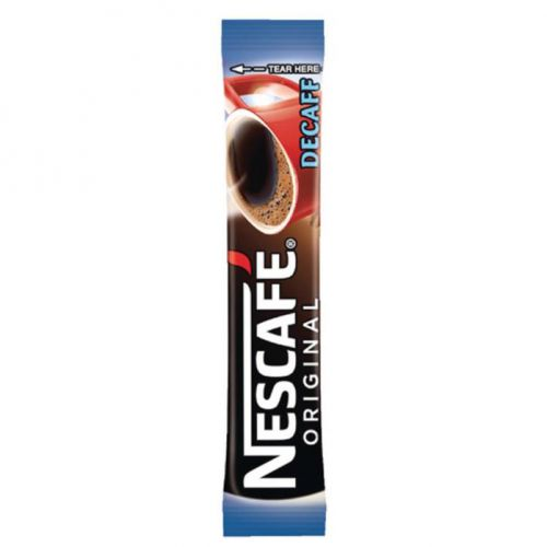 Nescafe Original Instant Coffee Granules Decaffeinated Stick Sachets Ref 12349814 [Pack 200]