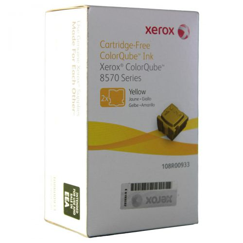 Xerox Solid Ink Sticks Page Life 4400pp Yellow Ref 108R00933 [Pack 2]