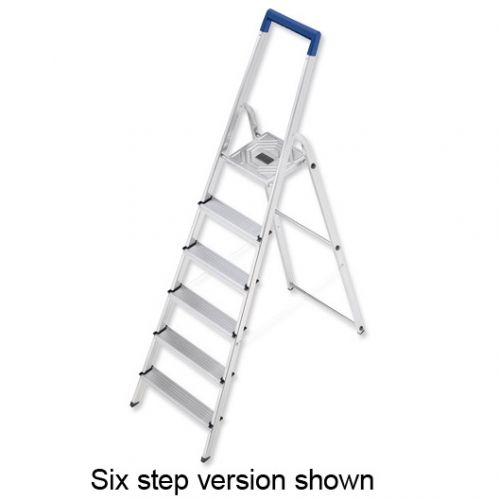 Folding Aluminium Ladder 8 Non Slip Ribbed Steps Capacity 150kg 7.7kg