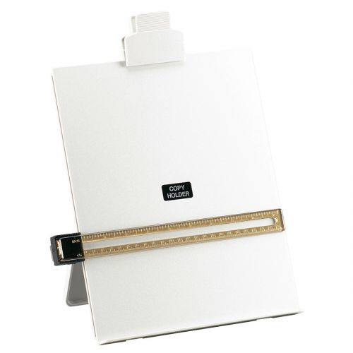 5 Star Office Desktop Copyholder with Line Guide Ruler A4 Grey