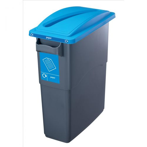 EcoSort Recycling System Waste Lid for Paper Slot Opening 295x525x75mm Blue Ref SPICEECOPAPLID1