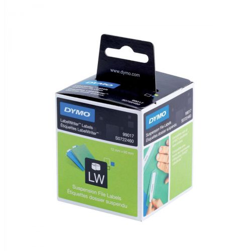 Dymo LabelWriter Labels Suspension File 50x12mm White Ref 99017 S0722460 [Pack 220]