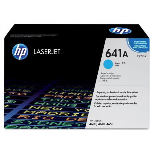 HP 641A Laser Toner Cartridge Page Life 8000pp Cyan Ref C9721A