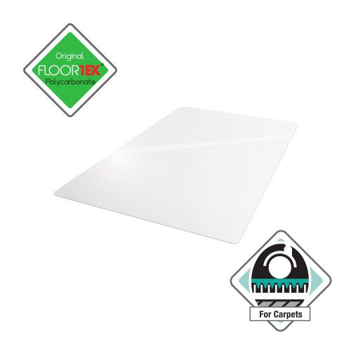 Cleartex Ultimat Chair Mat Polycarbonate Rectangular Carpet Protection 1190x890mm Clear Ref FC118923ER